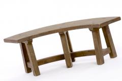 Pierre Chapo Pierre Chapo style brutalist organic complete dinning set with round benches - 1649049