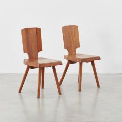 Pierre Chapo Set of 12 S28 Pierre Chapo dining chairs Chapo SA France c 1972 - 1208371