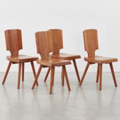 Pierre Chapo Set of 12 S28 Pierre Chapo dining chairs Chapo SA France c 1972 - 1208374