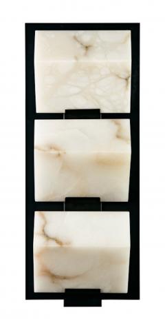 Pierre Chareau Block Triple Metal 185 Wall Sconce - 507532