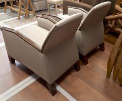 Pierre Chareau Pierre Chareau attributed superb design pair of club chairs - 1079864