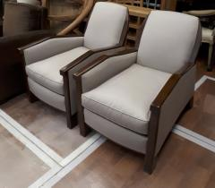 Pierre Chareau Pierre Chareau attributed superb design pair of club chairs - 1079868