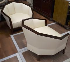 Pierre Chareau Pierre Chareau pair of modernist Makassar lounge chairs - 774947