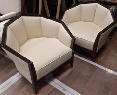 Pierre Chareau Pierre Chareau pair of modernist Makassar lounge chairs - 774949