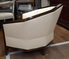 Pierre Chareau Pierre Chareau pair of modernist Makassar lounge chairs - 774950