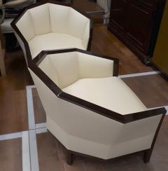 Pierre Chareau Pierre Chareau pair of modernist Makassar lounge chairs - 774951