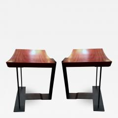 Pierre Chareau Two end of 20th century stools model T 1927 by Pierre Chareau - 1336681