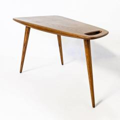 Pierre Cru ge Rare pair of 1950s solid oak tripod side table Stylus Model 44 FORMES Editions - 1654177