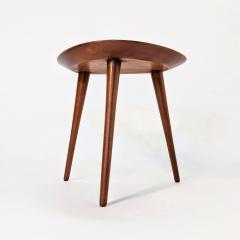 Pierre Cru ge Series of 3 1950s French mahogany tripod stools - 1654186