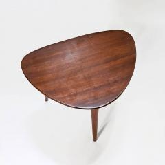 Pierre Cru ge Series of 3 1950s French mahogany tripod stools - 1654189