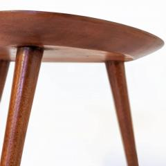 Pierre Cru ge Series of 3 1950s French mahogany tripod stools - 1654192