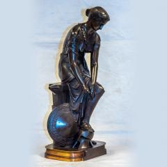 Pierre Eug ne Emile H bert A Fine Patinated Bronze Sculpture depicting Thetis - 1469113