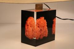 Pierre Giraudon Pierre Giraudon Resin with Coral Table Lamp France 1970 - 1308075