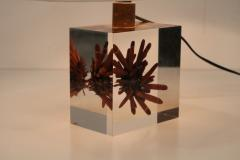 Pierre Giraudon Pierre Giraudon Resin with Coral Table Lamp France 1970 - 1308102