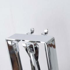 Pierre Guariche Mid Century Chrome Plated French Fire Tool Fireplace Set Guariche Style - 1893009