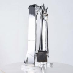 Pierre Guariche Mid Century Chrome Plated French Fire Tool Fireplace Set Guariche Style - 1893012