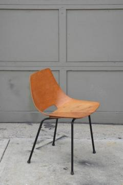 Pierre Guariche Pair of Bent Plywood Tonneau Side Chairs by Pierre Guariche - 953556
