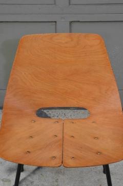 Pierre Guariche Pair of Bent Plywood Tonneau Side Chairs by Pierre Guariche - 953559