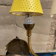 Pierre Guariche Pair of Totally French Vintage Table Lamps in Blue White Yellow FRANCE 1950s - 2083190