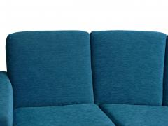 Pierre Guariche Rare Vintage Two Part Blue Upholstered Model L 10 Curved Sofa by Pierre Guariche - 1126833