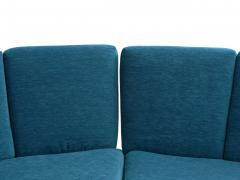 Pierre Guariche Rare Vintage Two Part Blue Upholstered Model L 10 Curved Sofa by Pierre Guariche - 1126834