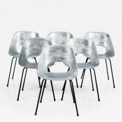 Pierre Guariche Tonneau Cast Aluminum Chairs By Pierre Guariche   195324