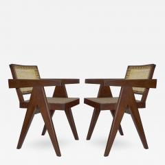 Pierre Jeanneret Pair of PJ SI 28 D Armchairs designed by Pierre Jeannerete for Chandigrah - 268560