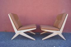 Pierre Jeanneret Pair of Scissor Chairs Model 92 by Pierre Jeanneret for Knoll - 2043781