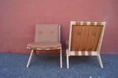 Pierre Jeanneret Pair of Scissor Chairs Model 92 by Pierre Jeanneret for Knoll - 2043782