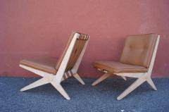 Pierre Jeanneret Pair of Scissor Chairs Model 92 by Pierre Jeanneret for Knoll - 2043783