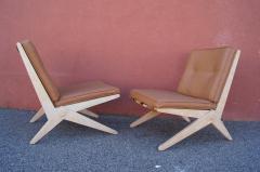 Pierre Jeanneret Pair of Scissor Chairs Model 92 by Pierre Jeanneret for Knoll - 2043785
