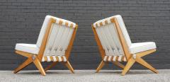 Pierre Jeanneret Pierre Jeanneret Scissor Lounge Chairs for Knoll Associates in Birch Boucle - 1835333