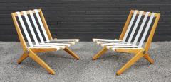 Pierre Jeanneret Pierre Jeanneret Scissor Lounge Chairs for Knoll Associates in Birch Boucle - 1835335