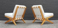 Pierre Jeanneret Pierre Jeanneret Scissor Lounge Chairs for Knoll Associates in Birch Boucle - 1835336