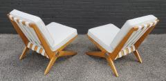 Pierre Jeanneret Pierre Jeanneret Scissor Lounge Chairs for Knoll Associates in Birch Boucle - 1835341