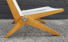 Pierre Jeanneret Pierre Jeanneret Scissor Lounge Chairs for Knoll Associates in Birch Boucle - 1835342
