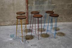 Pierre Jeanneret Pierre Jeanneret Set of 6 Hight Stools - 1967528