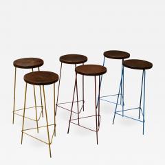 Pierre Jeanneret Pierre Jeanneret Set of 6 Hight Stools - 1970871