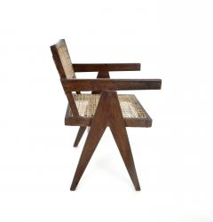 Pierre Jeanneret Pierre Jeanneret Teak and Cane Office Chair from Chandigarh - 995104