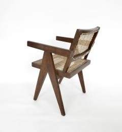 Pierre Jeanneret Pierre Jeanneret Teak and Cane Office Chair from Chandigarh - 995106