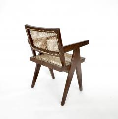 Pierre Jeanneret Pierre Jeanneret Teak and Cane Office Chair from Chandigarh - 995107