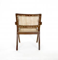 Pierre Jeanneret Pierre Jeanneret Teak and Cane Office Chair from Chandigarh - 995108
