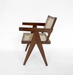 Pierre Jeanneret Pierre Jeanneret Teak and Cane Office Chair from Chandigarh - 995110