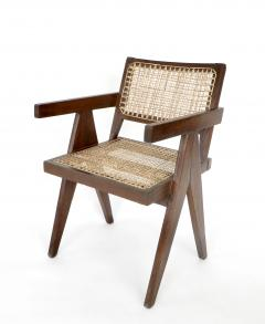 Pierre Jeanneret Pierre Jeanneret Teak and Cane Office Chair from Chandigarh - 995111