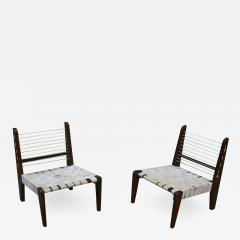 Pierre Jeanneret Pierre Jeanneret Very Rare Pair of Demountable Armless Chairs - 1970875