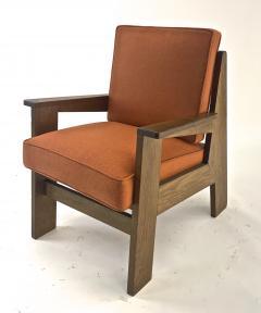 Pierre Jeanneret Pierre Jeanneret attributed pair of modernist oak chair - 1519251