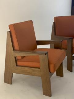 Pierre Jeanneret Pierre Jeanneret attributed pair of modernist oak chair - 1519252