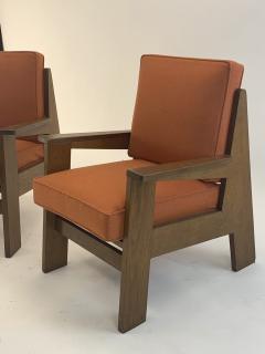Pierre Jeanneret Pierre Jeanneret attributed pair of modernist oak chair - 1519253