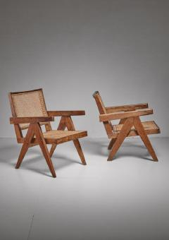 Pierre Jeanneret Pierre Jeanneret pair of Chandigarh High Court easy chairs 1950s - 760152