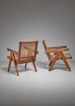 Pierre Jeanneret Pierre Jeanneret pair of Chandigarh High Court easy chairs 1950s - 760153